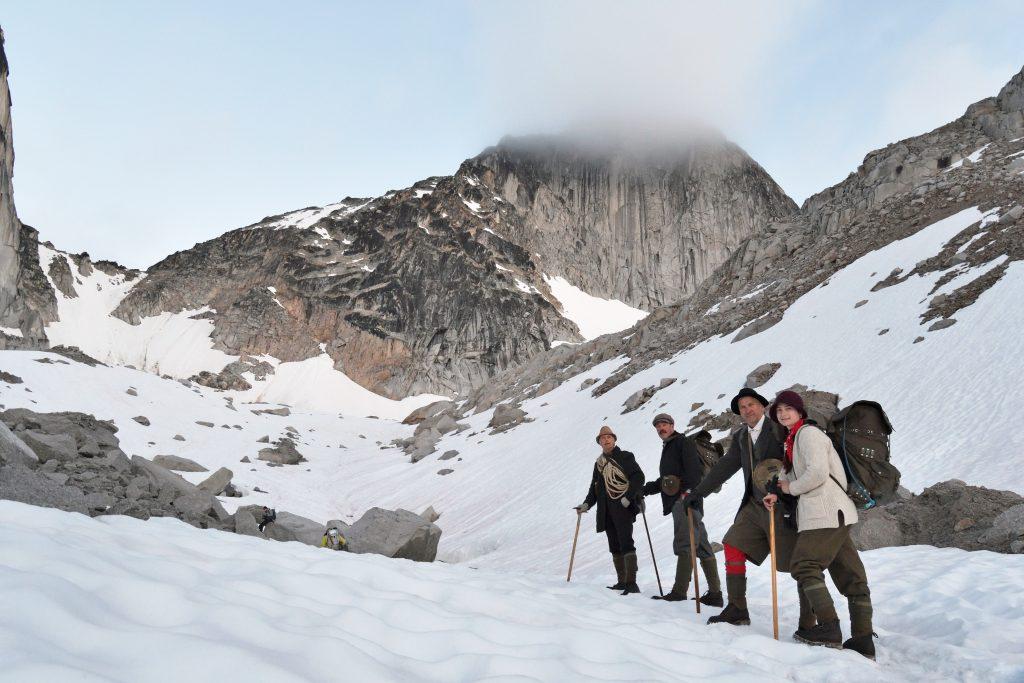 climbing Kain glacier